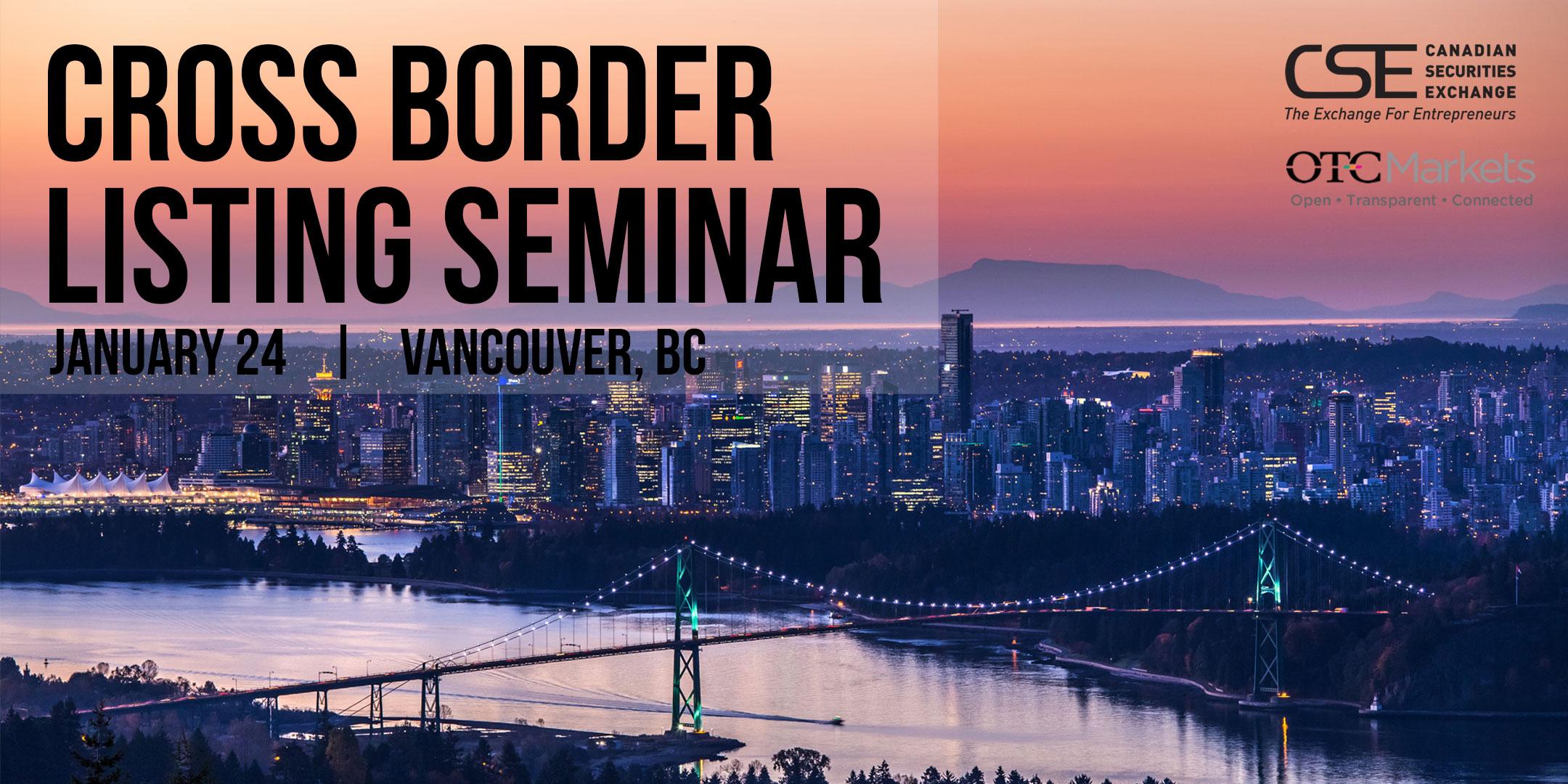 January 24 2017 Cross Border Seminar