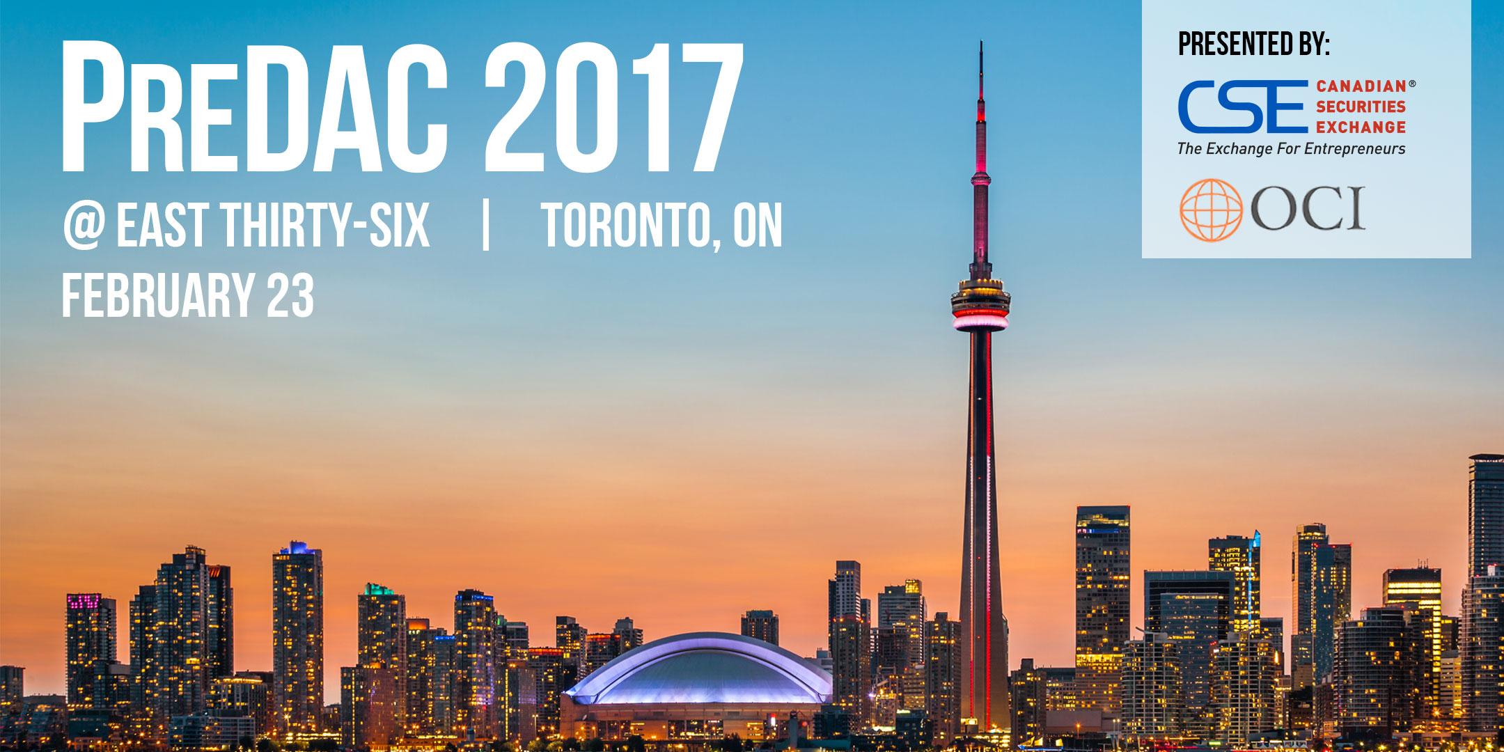 PreDAC 2017 Toronto
