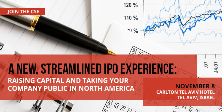 A New, Streamlined IPO Experience: Raising Capital and Taking your Company Public in North America Header