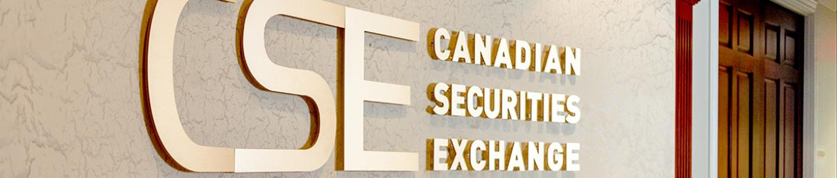Large sign of Canadian Securities in gold letters