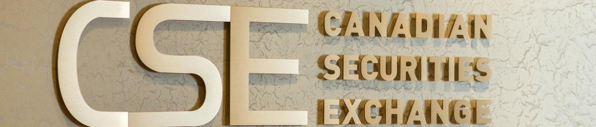 Canadian Securities Exchange signage at head office